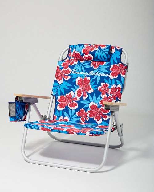 Hello Hibiscus Backpack Beach Chair