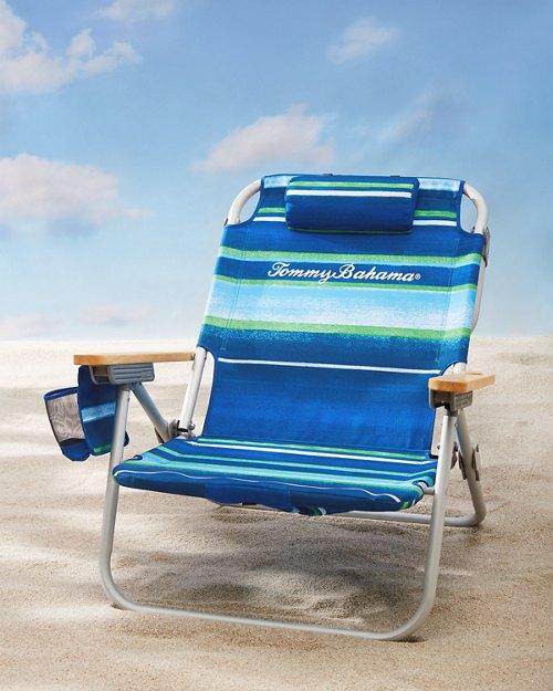 Multi Stripe Deluxe Backpack Beach Chair