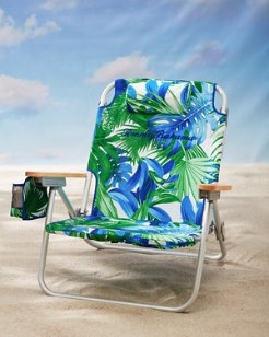 Palm Fronds Deluxe Backpack Beach Chair