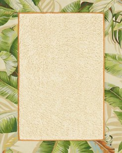 Palmiers Medium Green Bath Rug