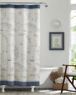 Caribbean Sea Lt-Pastel Blue Shower Curtain