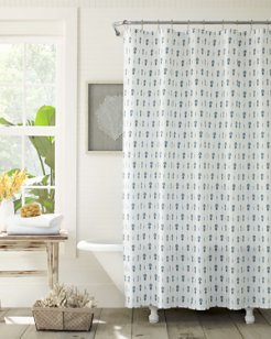 Pineapple Pinstripe Shower Curtain