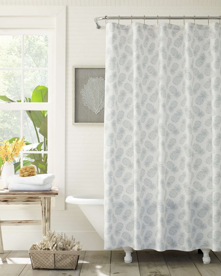 Main Image for Tossed Pineapple Shower Curtain