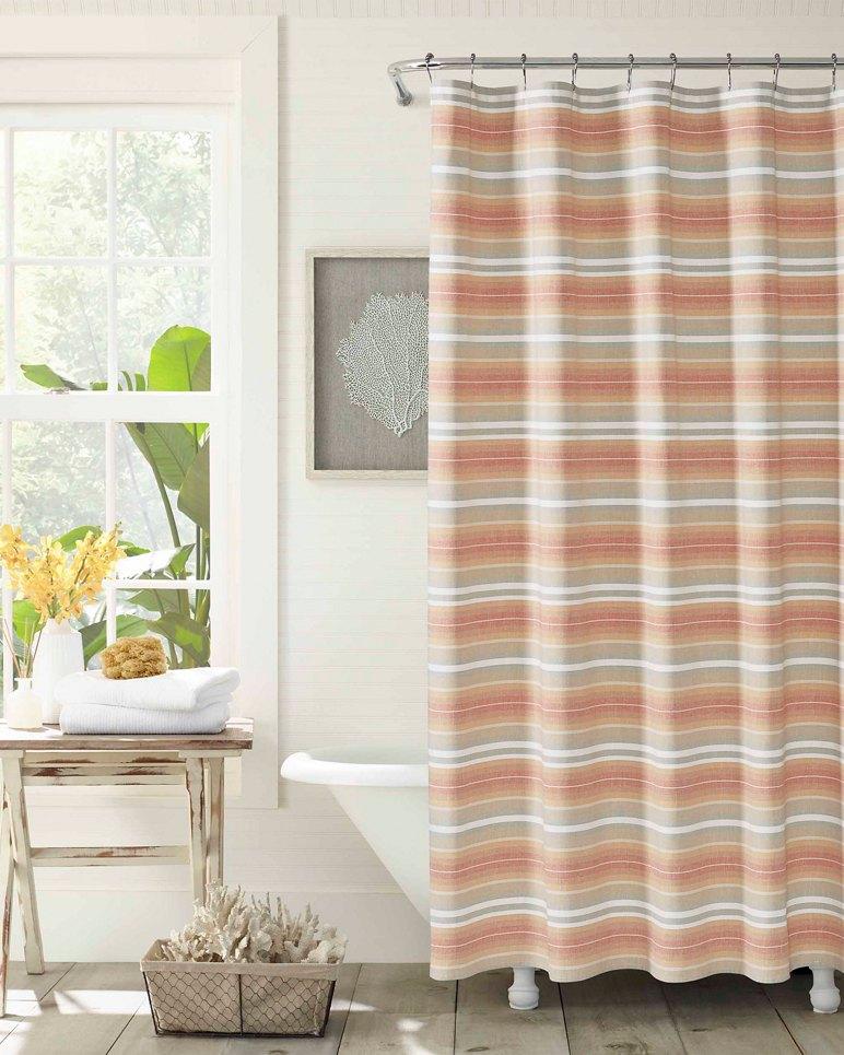 Main Image for Sunrise Stripe Shower Curtain