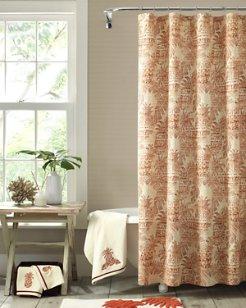 Batik Pineapple Shower Curtain