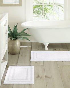 White Isla Bath Rug Set of 2