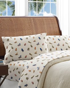 Beach Chairs Sheet Set, Queen