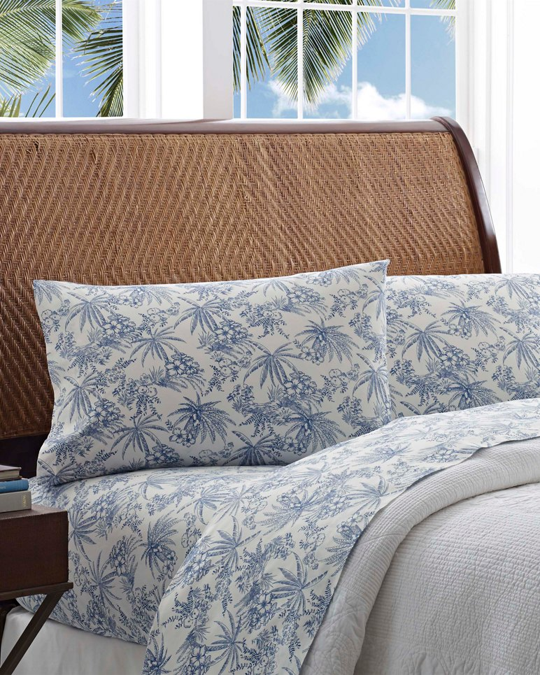Main Image for Pen & Ink Palm Sheet Set, Queen
