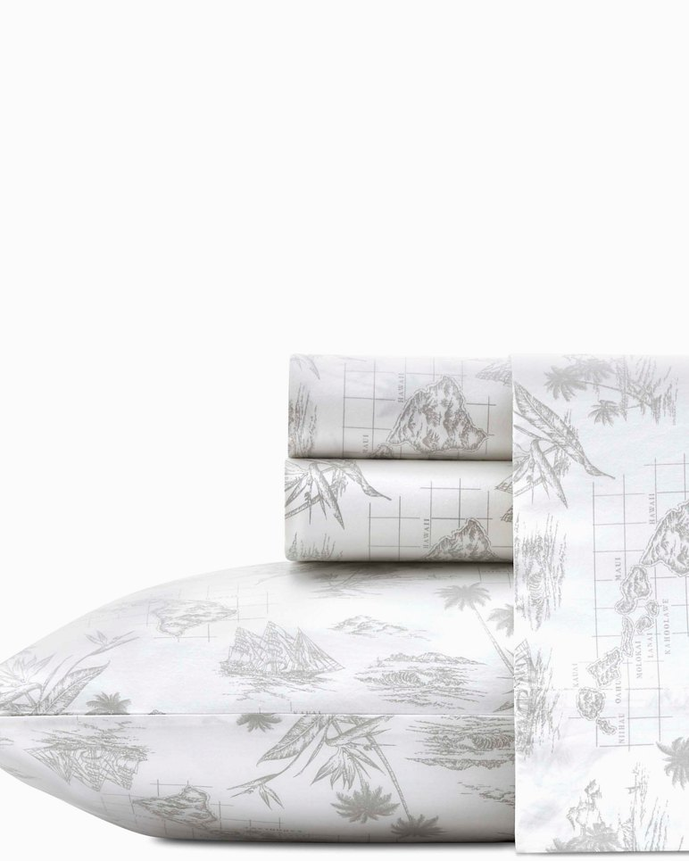 Main Image for Vintage Map Sheet Set, Queen