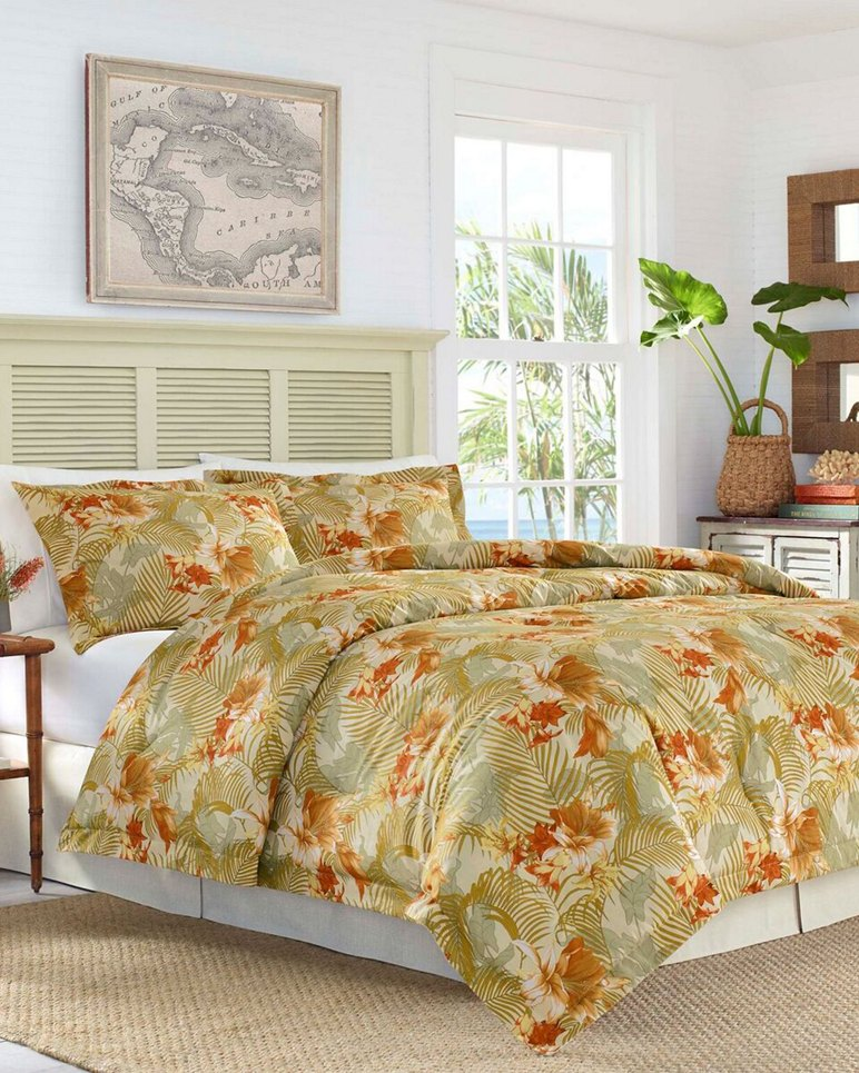 Main Image for Loredo Gardens Medium Orange Comforter Set, King