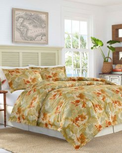 Loredo Gardens Medium Orange Comforter Set, California King