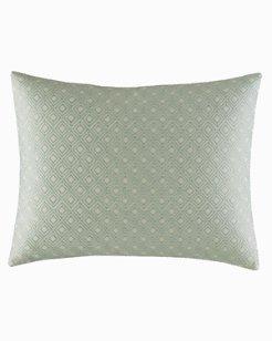 Abacos Turquoise-Aqua Decorative Pillow, 16X20