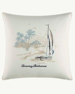 La Prisma Stripe Medium Blue Square Pillow, 20x20