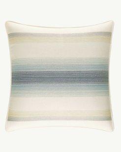 La Prisma Stripe Medium Blue Square Pillow, 16x16