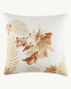 Loredo Gardens Medium Orange Square Pillow, 20x20