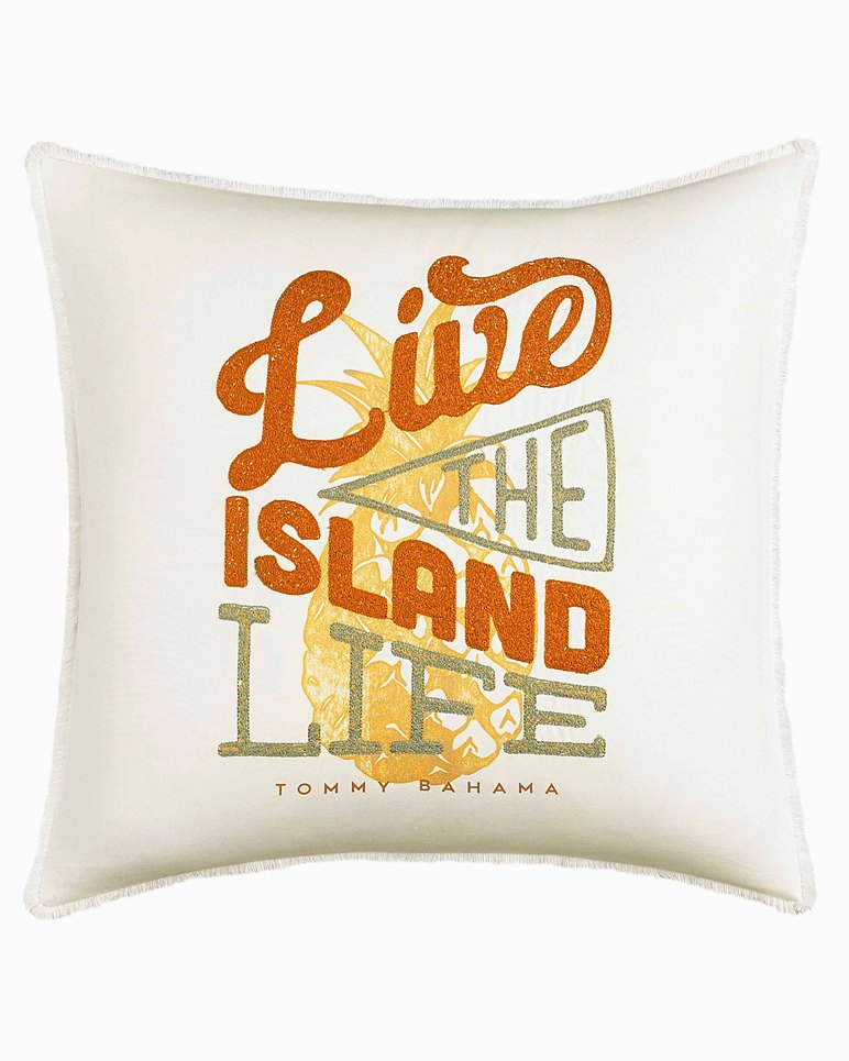 Main Image for Sunrise Stripe Live the Island Life Pillow