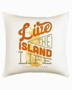 Sunrise Stripe Live the Island Life Pillow
