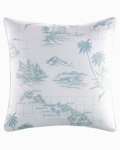 Sailaway Blue Square Pillow