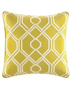 Cuba Cabana Congo Botanical Trellis Throw Pillow