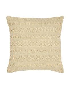 Cross Weave Green Canvas Pillow