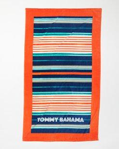 Orange Multi-Stripe Beach Towel