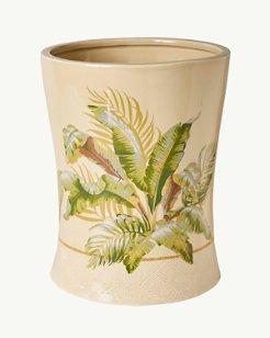 Palmiers Stoneware Wastebasket