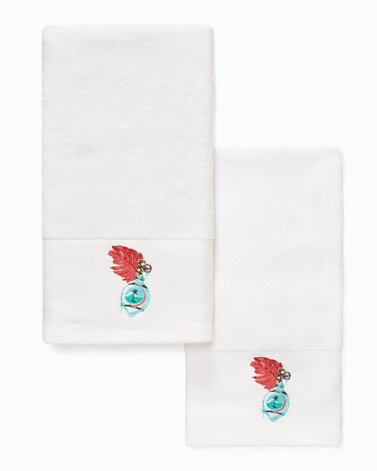 Main Image for Palm Ornament Hand Towels - Set of 2
