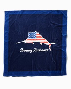 Marlin Flag Beach Blanket