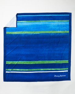 Navy Stripe Beach Blanket