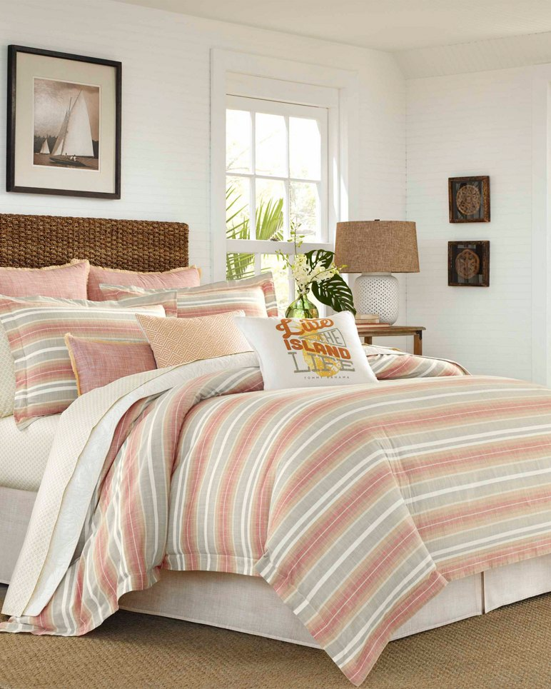 Main Image for Sunrise Stripe Burnt Coral Duvet, King