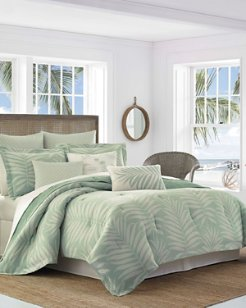 Abacos Blue Duvet Cover Set, Full/Queen