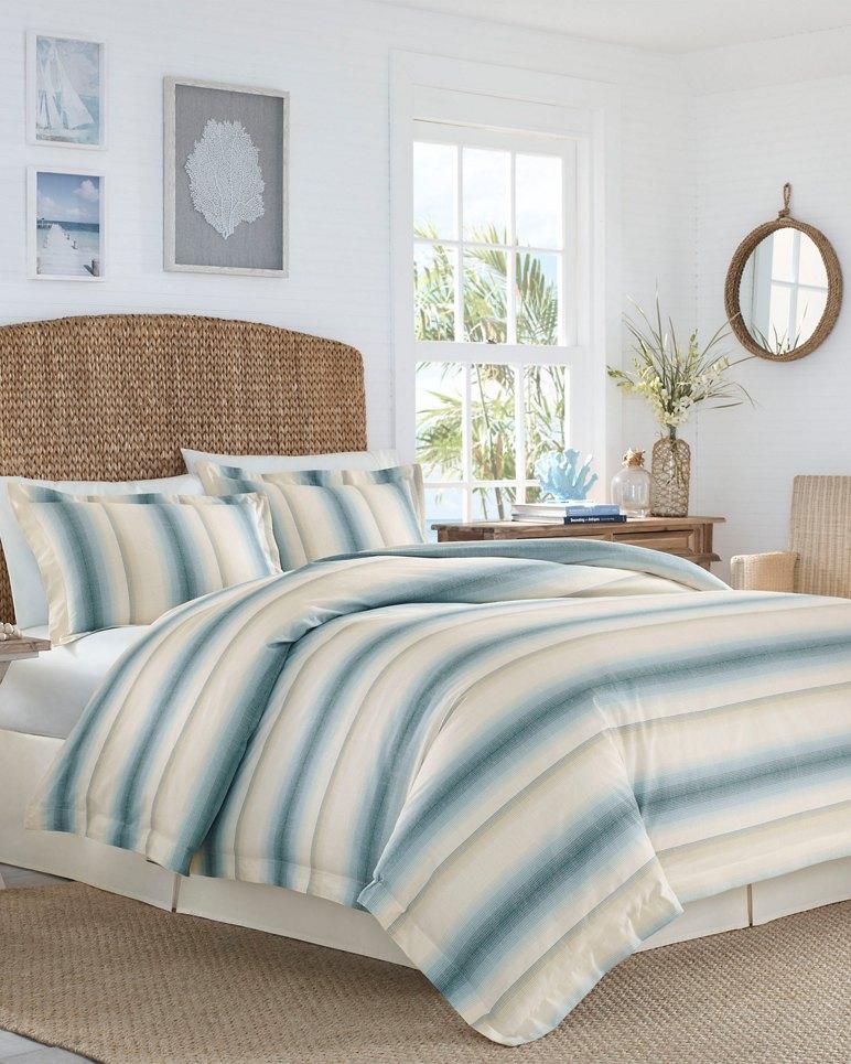 Main Image for La Prisma Stripe Medium Blue Duvet Cover Set, King