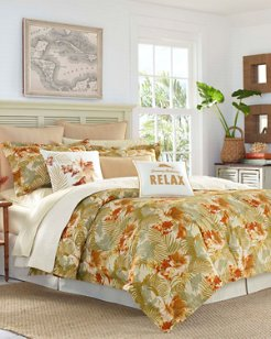 Loredo Gardens Medium Orange Duvet Cover Set, Full/Queen