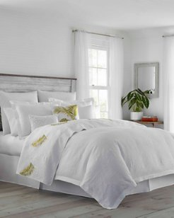 St. Armands White Coconut Duvet Set, Full/Queen