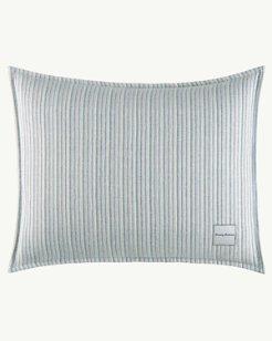 La Prisma Stripe Medium Green Breakfast Pillow, 16x20