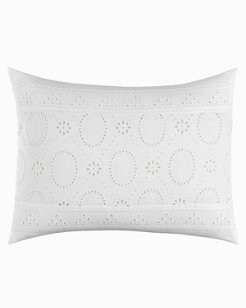 Siesta Key White Eyelet Breakfast Pillow
