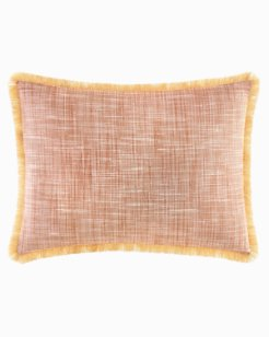 Sunrise Stripe Burnt Coral Breakfast Pillow
