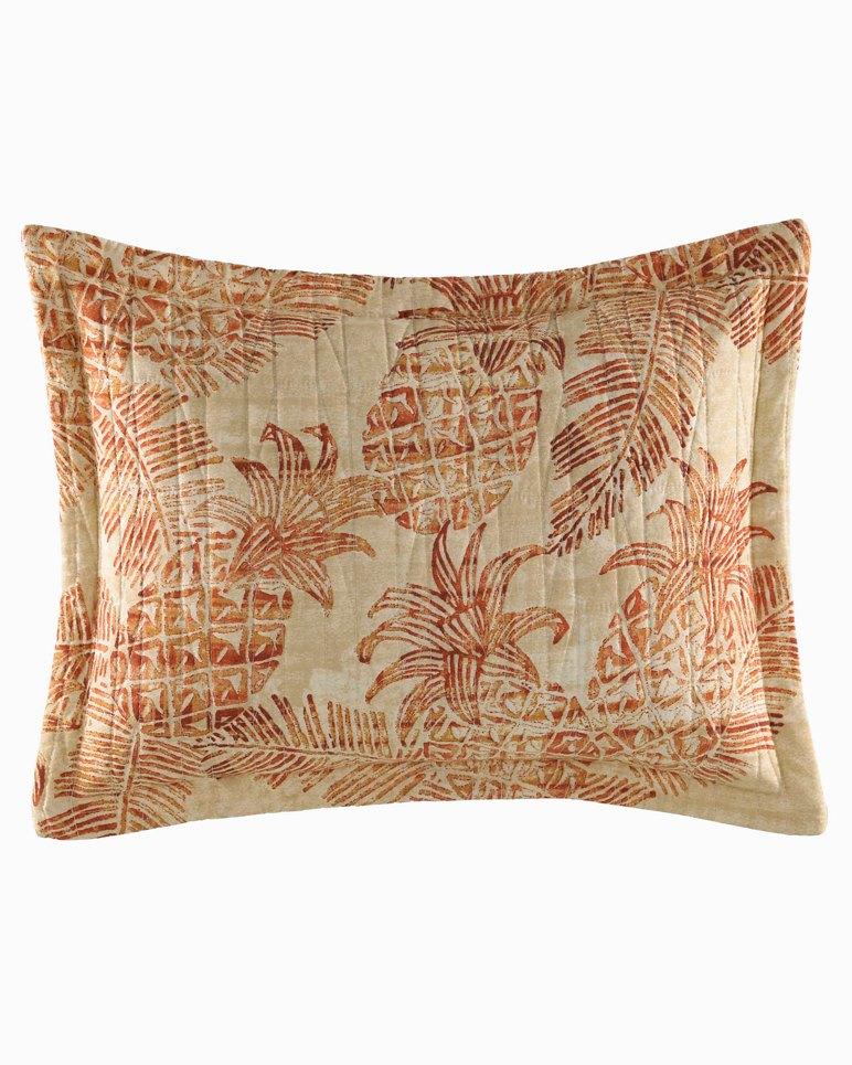 Main Image for Batik Pineapple Burnt Coral Breakfast Pillow