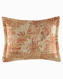 Batik Pineapple Burnt Coral Breakfast Pillow