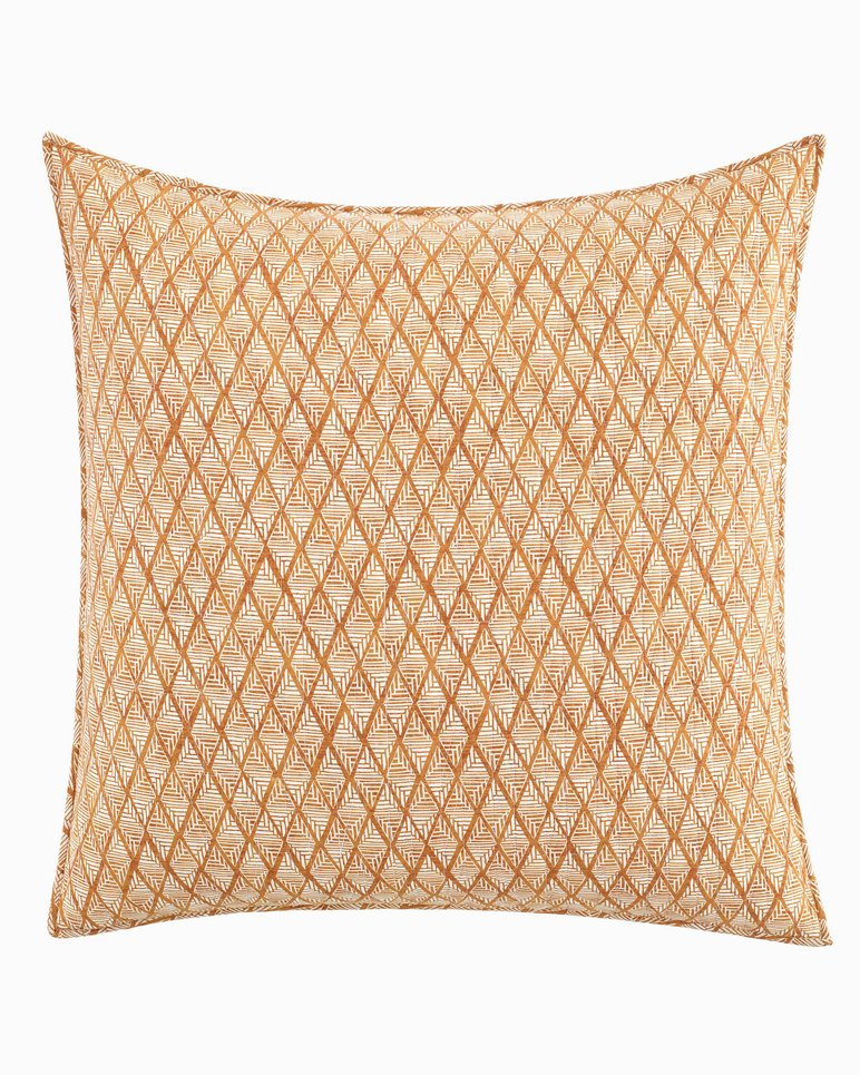 Main Image for Batik Pineapple Raw Sienna European Sham