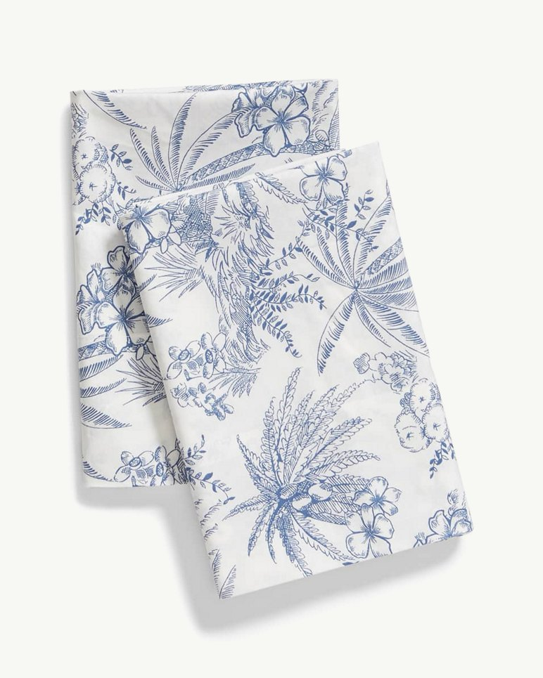Main Image for Pen & Ink Palm Pillowcase Set, Standard