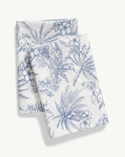 Pen & Ink Palm Pillowcase Set, Standard