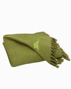 Canvas Fringe Throw Blanket
