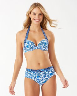 Woodblock Blossoms Underwire Bikini Top