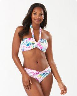 Rainbow Fronds Bandeau Bikini Top