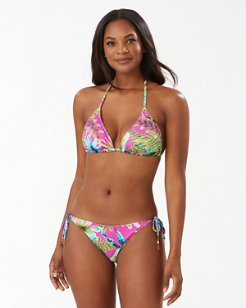 Sun-Kissed Tropics Reversible Triangle Bikini Top