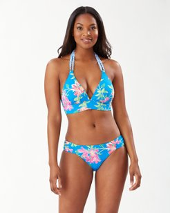 Sun Lilies Reversible Halter Bikini Top