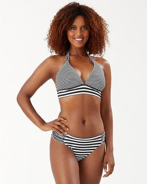 Breaker Bay Stripe Reversible Halter Bikini Top