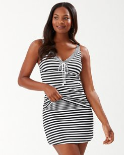 Breaker Bay Stripe On-the-Shoulder Tankini