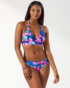 Bougainvillea Reversible Halter Bikini Top